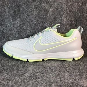 Nike Explorer 2 Golf Shoes Platinum/Volt Sz 10